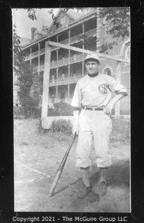 Vintage Baseball Imagery - Background Hip 1 (portion of vintage photo post card)