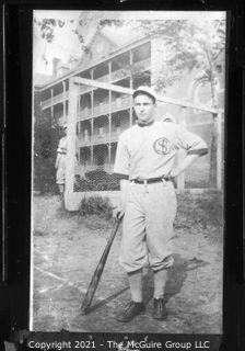Vintage Baseball Imagery - Background Hip 2 (portion of vintage photo post card)