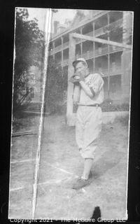 Vintage Baseball Imagery - Background Pitcher (portion of vintage photo post card)