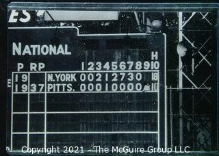 1960 World Series: Rickerby: Frame #23 9th Inning Scoreboard of Game Two Blowout
