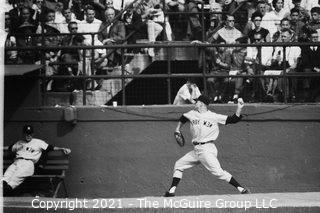1960 World Series: Rickerby: Negatives Only: Yankee Pitcher Warms Up