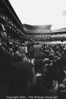 1960 World Series: Rickerby: Negatives Only: Pittsburgh Fans Storm Forbes Field