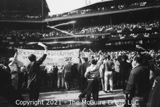 1960 World Series: Rickerby: Negatives Only: Pittsburgh Pirate Fans Storm Forbes Field