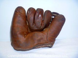 Vintage Softball Glove: NOKONA G1 Lefty  dated 1-8-45