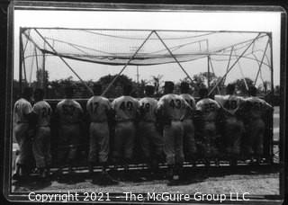 Vintage Baseball Negative: Spring Training; Grouping from the Rear - A