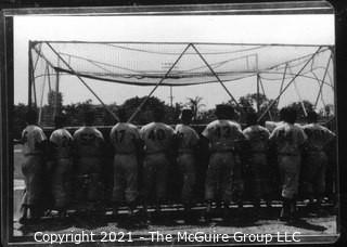 Vintage Baseball Negative: Spring Training; Grouping from the Rear - B