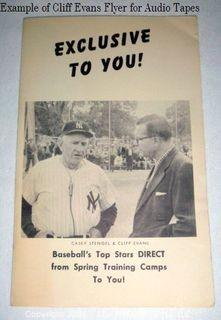 Example of Clifford Evans Flyer for Interview Tapes