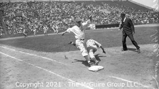 Vintage Baseball Negative: 1940's Pacific Coast League Game? - Seals vs team with stars on their backs