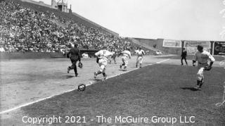 Vintage Baseball Negative: 1940's Pacific Coast Game? - Seals vs team with stars on their backs