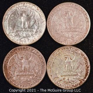 Numismatic: U.S. Coins: (4) Washington Silver Quarters