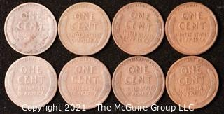 Numismatic: U.S. Coins: (8) Wheat Cents