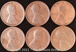 Numismatic: U.S. Coins: (6) Wheat Cents