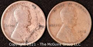 Numismatic: U.S. Coins: (2) Wheat Cents