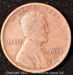 Numismatic: U.S. Coins: (1) Wheat Cent