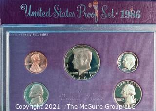 Numismatic: U.S. Coins: 1986 Proof Coin Set