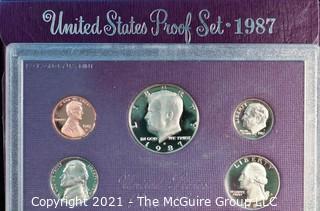 Numismatic: U.S. Coins: 1987 U.S. Proof Coin Set