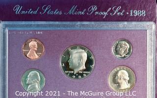 Numismatic: U.S. Coins: 1988 Mint Proof Coin Set