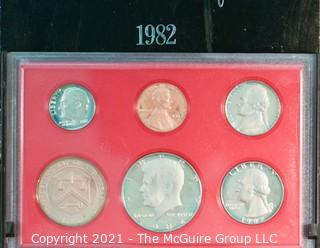 Numismatic: U.S. Coins: 1982 Proof Set
