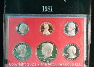 Numismatic: U.S. Coins: 1981 Proof Set