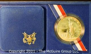 Numismatic: U.S. Coins: 1986 U.S. Liberty Coin with presentation box