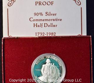 Numismatic: U.S. Coins: 1732-1982 Commemorative Silver Half Dollar with box