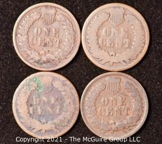 Numismatic: U.S. Coins: (4) Indian Head Cents
