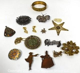 Collection of Vintage Metal Jewelry.