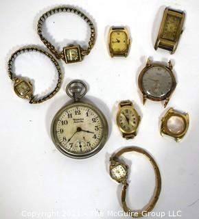 Vintage Wrist Watches and Pocket Watch