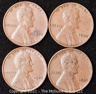 Numismatic: U.S. Coins: (4) Lincoln Wheat Cents
