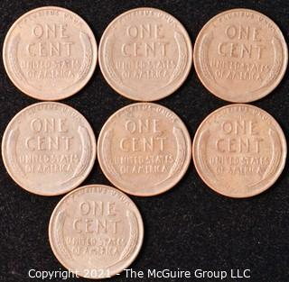 Numismatic: U.S. Coins: (7) Lincoln Wheat Cents