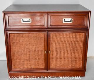 """Asian Cabinet; 2 Door Stepped with 5-Drawers; 36W x 20""""D x 31""""T"""