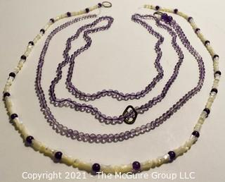 Three (3) Strands of Pale Amethyst Beads.