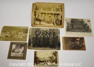 Collection of Vintage Black & White Photographs with Family and Fraternal Gatherings.