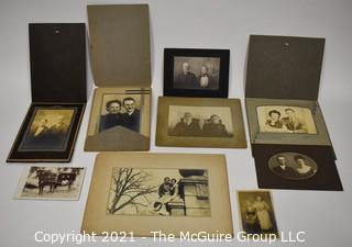 Group of Vintage Black & White Photographs and Portraits of Happy Couples.