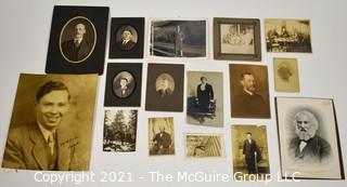 Group of Vintage Black and White Portraits and Photos of Dashing Men.  Includes some cabinet cards.