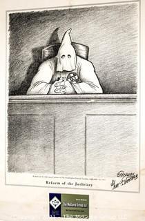 "Pencil Signed Political Cartoon; ""Reform of the Judiciary""; Gene Elderman"