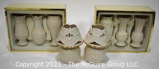 Group of Lenox Porcelain Decorative Items.  Includes Two (2) New In The Box Set of Vases.