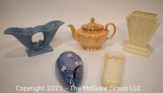 Group of Vintage Pottery & Porcelain Decorative Items.  Includes Abingdon and Lusterware.