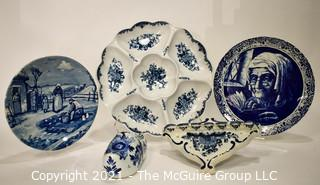 Collection of Blue and White China including Delft