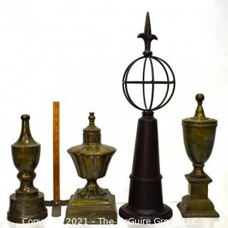 Contemporary Urn Shaped Mantel Decorations.