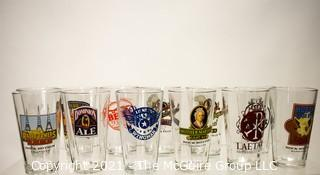 Collection of (12) Branded Beer Pint Glasses