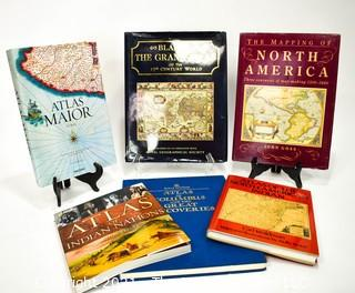 Collection of Various Hard Cover Book Atlases
