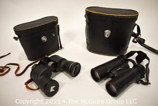 (2) Pair of Binoculars