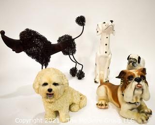 (5) Dogs Awaiting a Walk