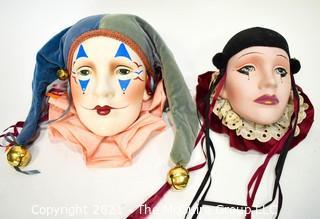 Mardi Gras Porcelain Decorative Faces