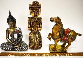 Three (3) Contemporary Decorative Asian Statues.