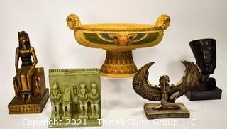 Group of Souvenir & Decorative Egyptian Items.