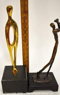 Two Art Metal Statues