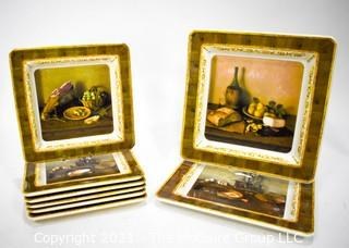 (6) Brunelli Italian Plates and (2) Platters