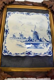 Collection of Blue and White Ceramics, Including Delft